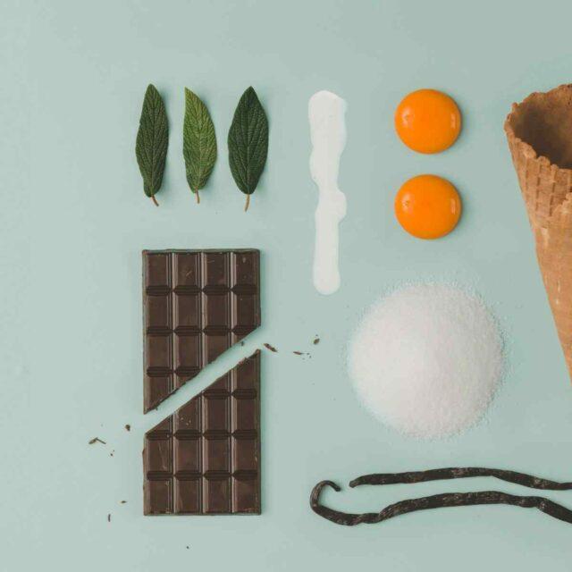 Organic chocolate ice cream